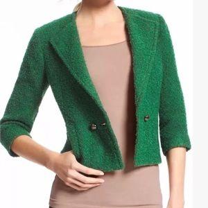 Cabi Green Crop Jacket Blazer 10